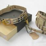 Diseñador-pu-perro-collar-leash-set-marca-cheque-imprimir-perro-cuero-plomo-alta calidad-M-L