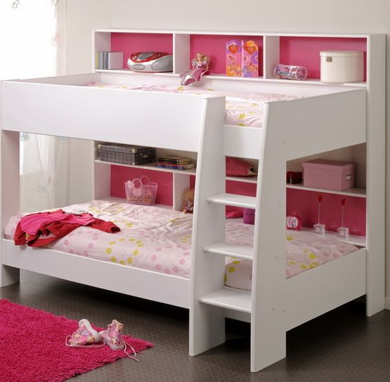 girl's bunk bed with slide