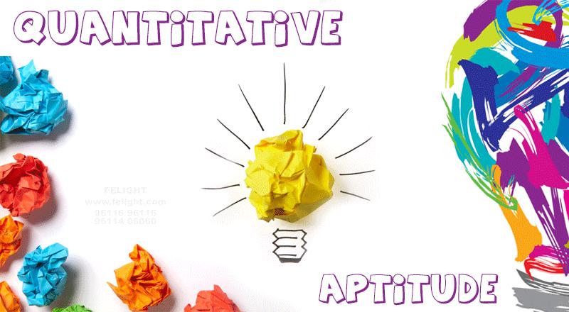 Quantitative Aptitude – part of an exam that decides your mental ability