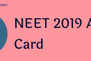 NEET-Admit-Card-2019