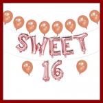 Sweet 16 balloons