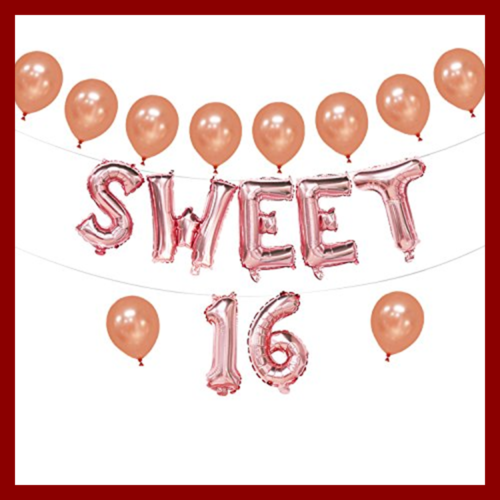 Sweet 16 balloons:  Best thing to make Your 16 Years Old Happy