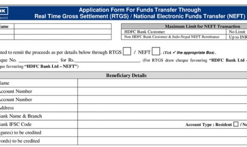 hdfc-rtgs-form